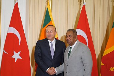 Visit of Turkeys Foreign Affairs Minister to Sri Lanka 2016
