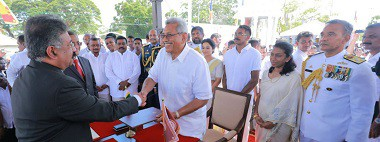 His Excellency Gotabaya Rajapaksa sworn in as new Executive President of Sri Lanka